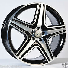 "GENUINE MERCEDES ML/GLE W166 AMG 21"" INCH BLACK/POLISHED ALLOY WHEELS X4 (11-16)"