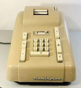 Vintage Remington Office Machine Model 102 Electric Mechanical Calculator