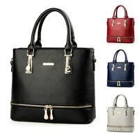 Elegant Women Lady Faux Leather Handbag Purse Shoulder Bag Zipper Messenger Tote