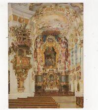 Die Wies Wallfahrtskirche Kanzel Mit Chor & Hochaltar Postcard Germany 561a