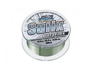 Sufix Duraflex Monofilament Line Clear 0.14-0.35mm 2.4-13kg 100-150m