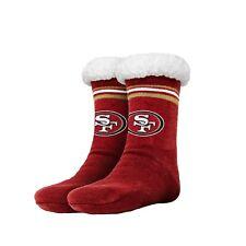San Francisco 49ers para mujer a rayas con el logotipo de alto Fútbol Zapatillas Tamaño 6-10 no antideslizante