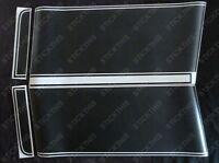 HQ GTS Stripe Kit Ute/Panelvan Front Stripes. Black Decals Stickers - Holden