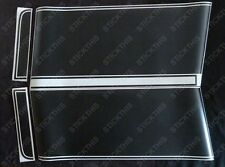 HQ GTS Ute/Panelvan Front Stripes. Black Decals Stickers - Holden