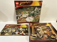 Lego Indiana Jones Manual Instructions ONLY Lot Of 3  Sets 7621 7626 7620