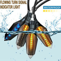 2 PAIR AMBER MOTORCYCLE LED TURN SIGNAL LAMP SEQUENTIAL FLOWING INDICATOR LIGHTS