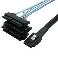 Mini SAS 36P SFF 8087 bis 4 SFF 8482 Anschlüsse mit Stromkabel SATA I4V6