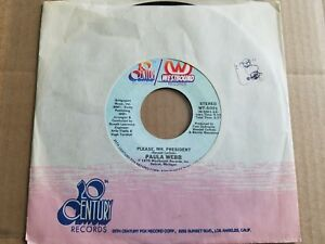 "Paula WEBB - Please, Mr. President / Paula's Theme 1975 POLITICAL Spoken Word 7"""