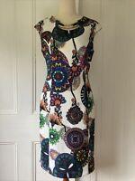 Joseph Ribkoff size 10 New with tags Multicolour floral print Sheath dress cap s