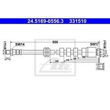Ate 24.5169-0556.3 bremsschlauch linea para bmw 555mm