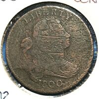 1800 1C Draped Bust Cent, S-202, R-4, die state 4 (X54578)