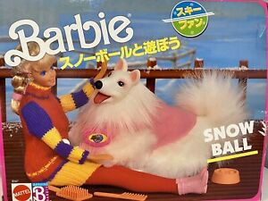 New with Box-1990 Vintage Mattel Barbie Snowball Her Pet Dog