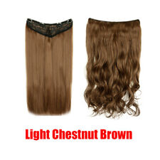 5 Clips Hair Extension Synthetic 1PC Curly 3/4 Full Head Long One Hairpiece 150g