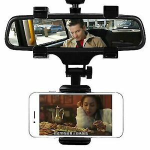 New Universal Car Rear-view Mirror Mount Stand Holder Cradle For Cell Phone