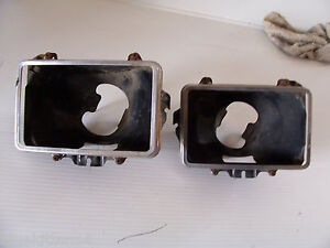 1978 ELDORADO RIGHT HEADLIGHT BUCKET 's & TRIM RING BEZEL OEM USED CADILLAC PART