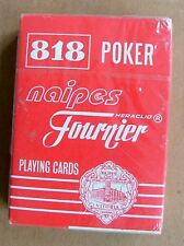 New Sealed Vintage Fournier Naipes Poker 818 Playing Cards PC242
