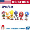 6Pcs/Set Sonic The Hedgehog Action Figures Set Collection Kids Birthday Gift Toy