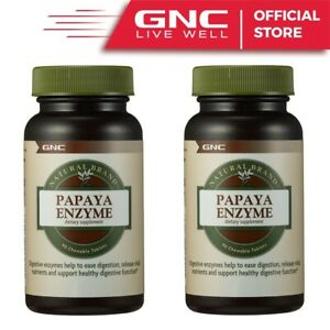2 x GNC Natural Brand Papaya Enzyme 90Caps Stomach Support Pain Digestion Help