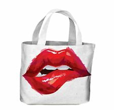Sexy Lips Painting Tote Shopping Bag For Life