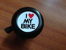 I LOVE MY BIKE Adults Kids Bicycle Bell Black - RRP£6