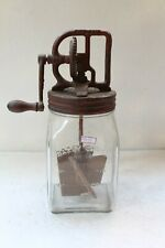 Vintage No 20 Glass Dazey Butter Churner Patent Primitive America Kitchen NH4675