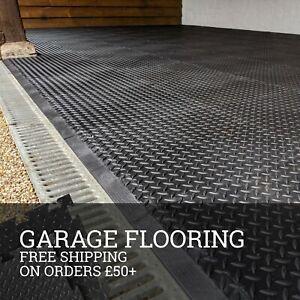Garage Floor Tiles, PVC Heavy-Duty Interlocking Car & Motorbike Tiles