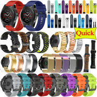 Quick Watch Wrist Stainless Steel Silicone Band Strap For Garmin Fenix 5 5X Plus