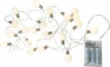 20 LED Lichterkette Mini-Glühbirnen 3,5 cm warmweiß ca. 3m, Batterie, mit Timer
