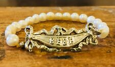 French Art Nouveau Baby Bracelet Antique repro freshwater pearls sterling 925