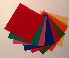 """40 x 5"""" square Beautiful Brights Solids Fabric Charm Pack - 8 colours"""