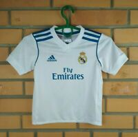 Real Madrid Jersey 2017 2018 Shirt Boys 4-5 Home Soccer Football Adidas Trikot