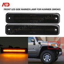 For Hummer H2 2003-2009 Smoked Lens LED Side Marker Lamp Front Amber 25952319 2X