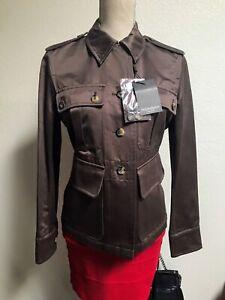 NWT Authentic $990 YSL Rive Gauche Safari Jacket 10