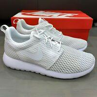 Nike Roshe One BR Breeze White White Wolf Grey 718552-110 Men's Rosherun Run