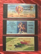 Lotto Biglietto Lotteria ITALIA + VIAREGGIO + AGNANO 1984 usati