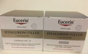 Eucerin Hyaluron Filler + Elasticity Day & Night Cream Duo Set 50ml Each