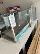 Commercial Pastry Bakery Display Case Optional Hot Plate Tiers Of Glass Strip