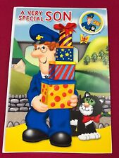 Postman Pat Birthday Boy Larger Card A Very Special Son with Badge and Envelope