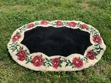 Hook And Loop Rug, Antique Hooked Rug