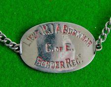 More details for ww1 i.d bracelet lieut william joseph aldridge burkmar border regt - gallipoli