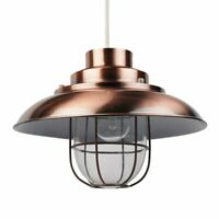 Contemporary Copper Fishermans Ceiling Light Pendant Shade Lampshade Industrial