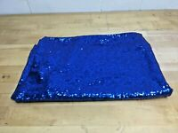 48x36 Yards-Royal Blue-Sequin Fabric, Blue Sequin Fabric,