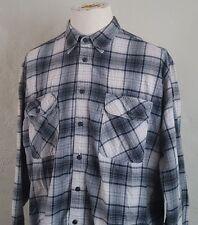 Levis ~ Long Sleeve Plaid Shirt ~ Gray & Beige ~ XL ~ Flanel/Grunge