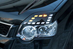 Front Eyelids Eyebrows Headlight Cover for Nissan X-Trail II Gen (2011-2014)