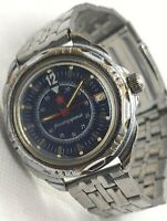 Komandirskiye Watch Vostok Ussr Vintage Soviet Commander Wristwatch Commanding