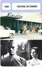 FICHE CINEMA :  FESTIVAL DE CANNES 1958 (mod B) - Mon Oncle,Tati,Brynner