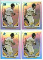 2014 Bowman Chrome Draft Cole Tucker (4) Card Refractor Lot Pirates Rookie FY RC