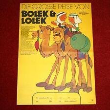 Filmposter DIE GROSSE REISE VON BOLEK UND LOLEK 1979 Wielka podróz Bolka i Lolka