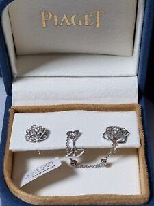 Piaget Rose Diamond Earring w/ Cuff 18k Real Gold/Natural Diamond