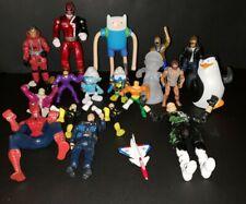 Lot Of Random Junk Drawer Toys Light Up Mario, Superheroes, Power Rangers, Smurf